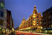 Harrods Department Store at night Brompton Road Knightsbridge London 2005 Artist Unknown