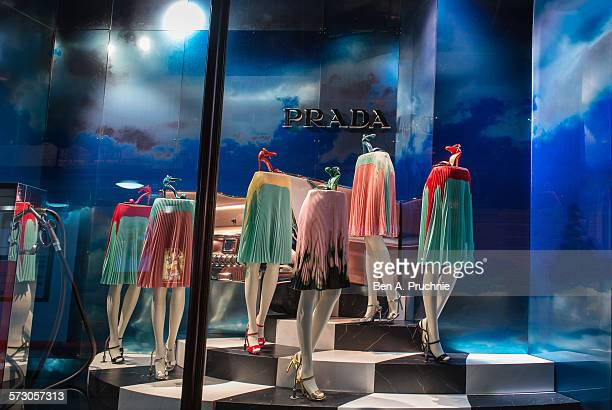 Harrods London window display 2014 as Part of the World Fashion Window Displays on May 5 2014 in London United Kingdom