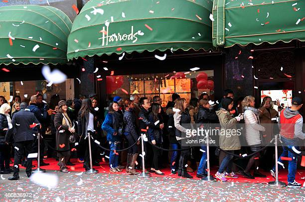 Harrods opens its world famous Winter Sale at Harrods on December 26 2014 in London England