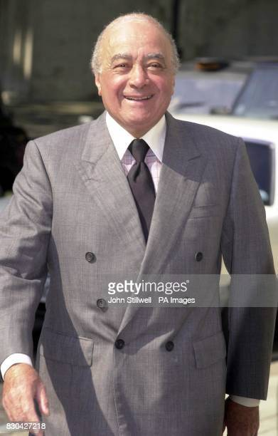 Harrods owner Mohamed Al Fayed arriving at the High Court in London to launch his legal battle for joint or simultaneous inquests into the deaths of...