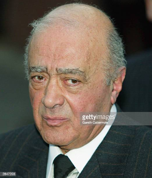 Harrods owner Mohamed Al Fayed attends the inquest into the death of his son Dodi Al Fayed at Wray Park on January 6 2003 in Reigate England Dodi Al...