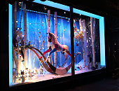 Harrods Unveils their 2014 Christmas Windows at Harrods on November 6 2014 in London England