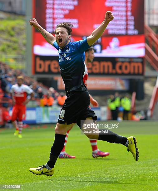 Harry Arter of AFC Bournemouth celebrates scoring the 2nd Bournemouth goal during the Sky Bet Championship match between Charlton Athletic and AFC...