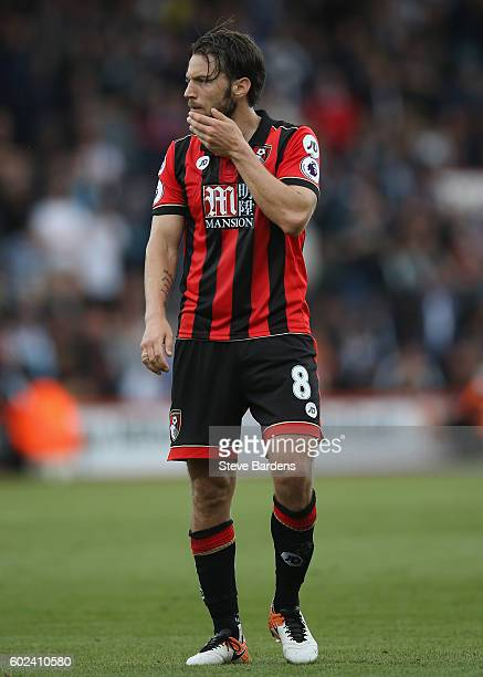Harry Arter of AFC Bournemouth during the Premier League match between AFC Bournemouth and West Bromwich Albion at Vitality Stadium on September 10...