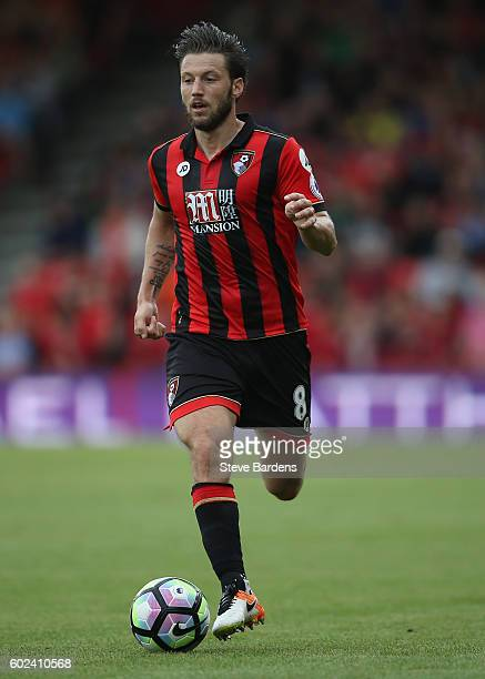 Harry Arter of AFC Bournemouth in action during the Premier League match between AFC Bournemouth and West Bromwich Albion at Vitality Stadium on...