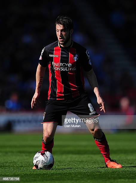 Harry Arter of AFC Bournemouth in action during the Sky Bet Championship match between AFC Bournemouth and Birmingham City at Goldsands Stadium on...