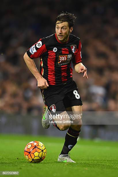 Harry Arter of Bornemouth in action during the Barclays Premier League match between West Bromwich Albion and AFC Bournemouth at the Hawthorns on...