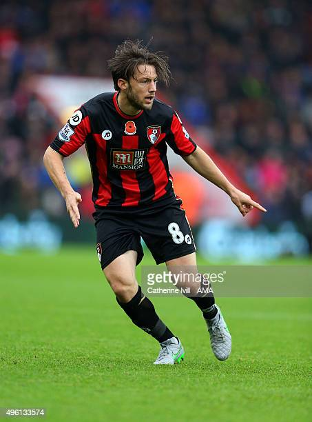 Harry Arter of Bournemouth during the Barclays Premier League match between AFC Bournemouth and Newcastle United at Vitality Stadium on November 7...