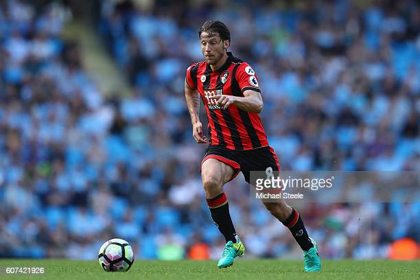 Harry Arter of Bournemouth during the Premier League match between Manchester City and AFC Bournemouth at Etihad Stadium on September 17 2016 in...