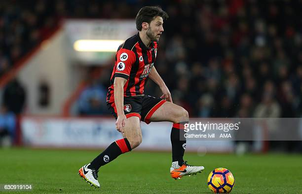 Harry Arter of Bournemouth during the Premier League match between AFC Bournemouth and Arsenal at Vitality Stadium on January 3 2017 in Bournemouth...