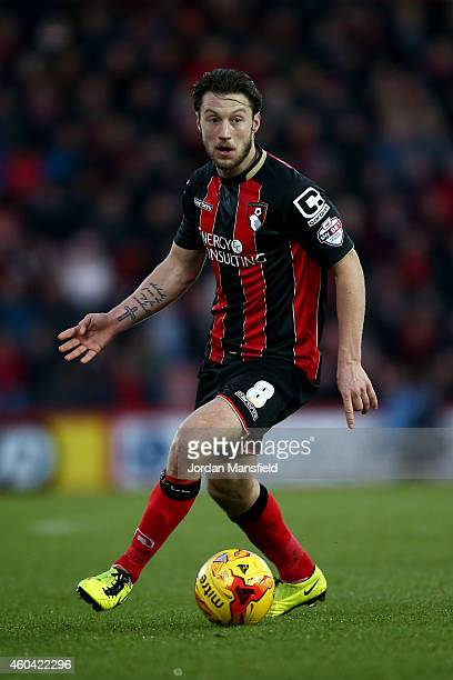 Harry Arter of Bournemouth in action during the Sky Bet Championship match between AFC Bournemouth and Cardiff City at Goldsands Stadium on December...
