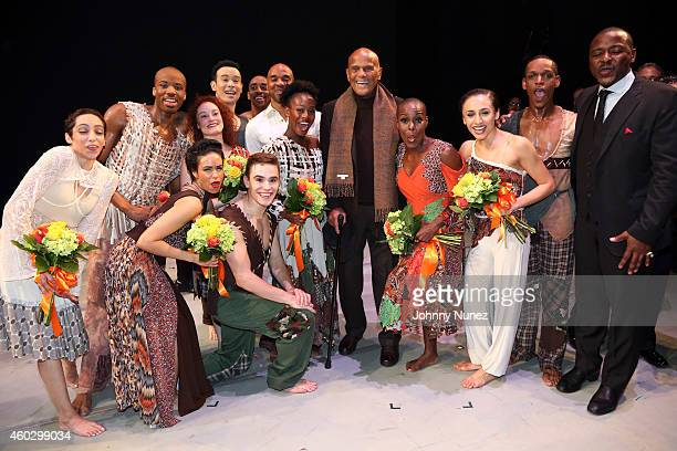 Harry Belafonte Alvin Ailey's Artistic Director Robert Battle and members of the Alvin Ailey American Dance Theater attend the Alvin Ailey American...
