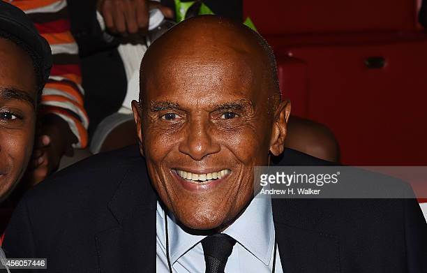 Harry Belafonte attends the 2014 Growing Up Locked Down Conference at the New School's Tischman Auditorium on September 24 2014 in New York City