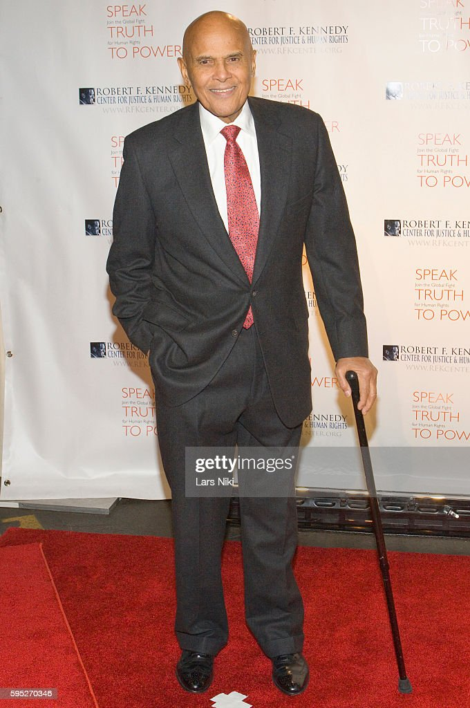 Harry Belafonte attends the 'Robert F Kennedy Center For Justice Human Rights Bridge Dedication Gala' at Pier 60 in New York City