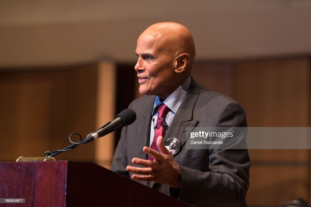 <a gi-track='captionPersonalityLinkClicked' href=/galleries/search?phrase=Harry+Belafonte&family=editorial&specificpeople=204214 ng-click='$event.stopPropagation()'>Harry Belafonte</a> delivers the Martin Luther King Jr. Day keynote address at Northwestern University on January 28, 2013 in Evanston, Illinois.