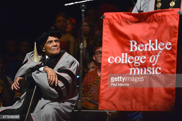 Harry Belafonte receives an Honorary Doctor of Music Degree at a concert in his honor 'The Life and Music of Harry Belafonte A Tribute Concert' at...