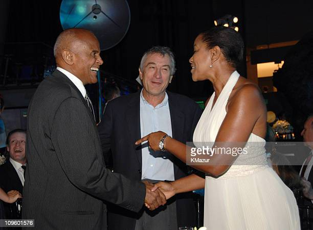 Harry Belafonte Robert De Niro and Grace Hightower