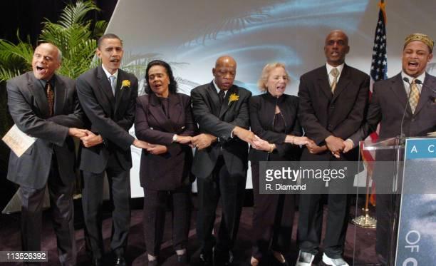 Harry Belafonte Senator Barack H Obama Coretta Scott King Congressman John Lewis Mrs Ethel Kennedy Kenny Leon and Joshua Nelson