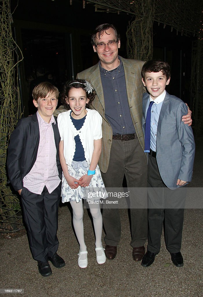 Harry Bennett, Izzy Lee, <a gi-track='captionPersonalityLinkClicked' href=/galleries/search?phrase=Robert+Sean+Leonard&family=editorial&specificpeople=683448 ng-click='$event.stopPropagation()'>Robert Sean Leonard</a> and Adam Scotland pose backstage during a performance of 'To Kill A Mockingbird' at Regents Park Open Air Theatre on May 22, 2013 in London, England.