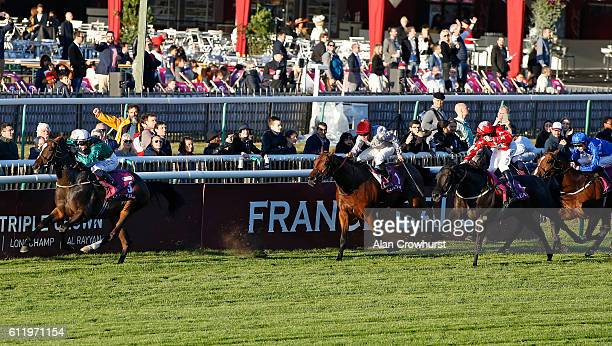 Harry Bentley riding Limato win The Qatar Prix de La Foret at Chantilly racecourse on October 02 2016 in Chantilly France