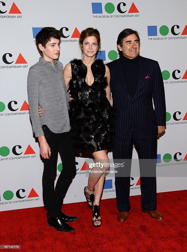 Harry Brant, model <a gi-track='captionPersonalityLinkClicked' href=/galleries/search?phrase=Stephanie+Seymour&family=editorial&specificpeople=208774 ng-click='$event.stopPropagation()'>Stephanie Seymour</a> and Peter M. Brant arrive at the 'Yesssss!' 2013 MOCA Gala, celebrating the opening of the exhibition Urs Fischer at MOCA Grand Avenue on April 20, 2013 in Los Angeles, California.