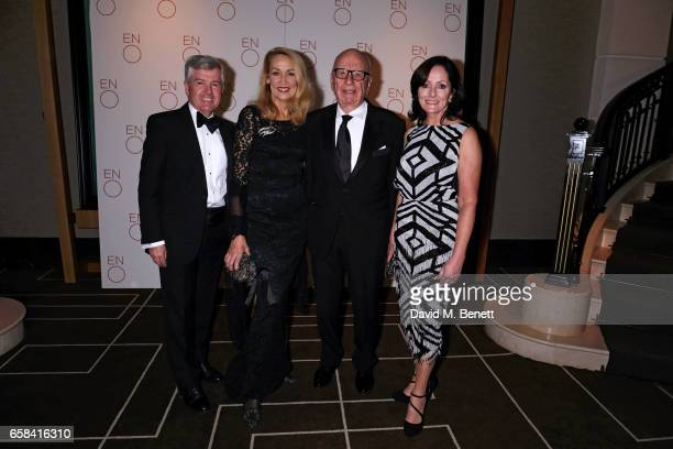 Harry Brunjes Jerry Hall Rupert Murdoch and Jacqui Brunjes attend the English National Opera Spring Gala 2017 at Rosewood London on March 27 2017 in...