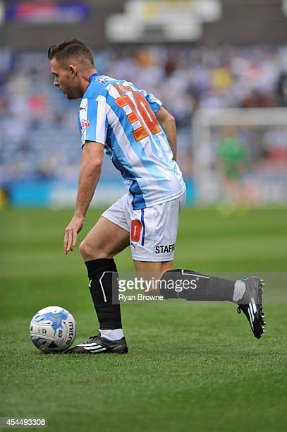 Harry Bunn of Huddersfield during Sky Bet Championship match between Huddersfield Town and Charlton Athletic at Galpharm Stadium on August 23 2014 in...