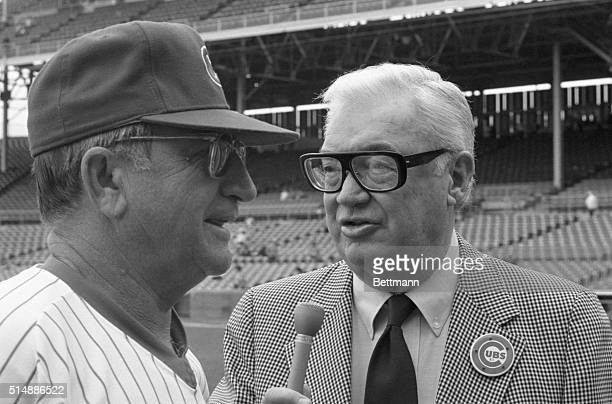 Harry Caray a regional sportscaster who has turned into a cult hero as the people's broadcaster thanks to cable television and the Chicago Cubs talks...