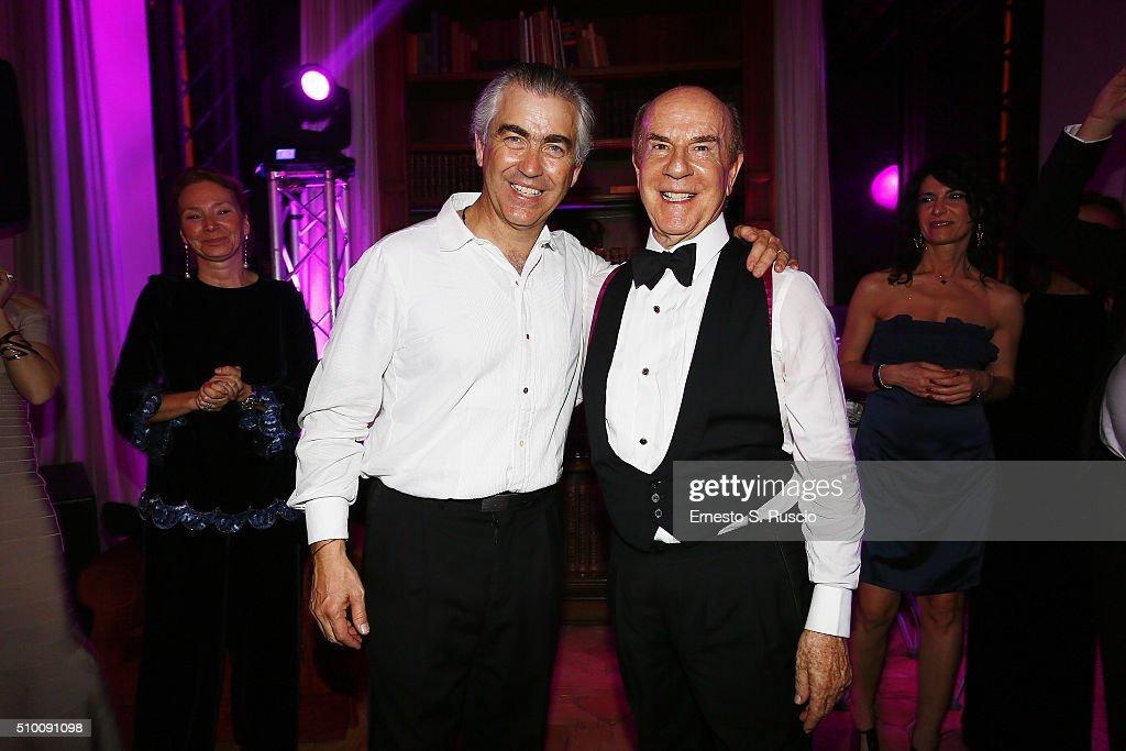 Harry Charles Scio and Roberto Scio attend Roberto Scio' birthday Party at La Posta Vecchia on February 13, 2016 in Paolo Laziale, near Rome, Italy.