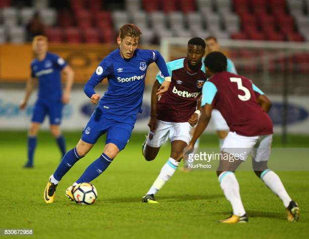 Harry Charsley of Everton Under 23s during Premier League 2 Division 1 match between West Ham United Under 23s and Everton Under 23s at Dagenham and...
