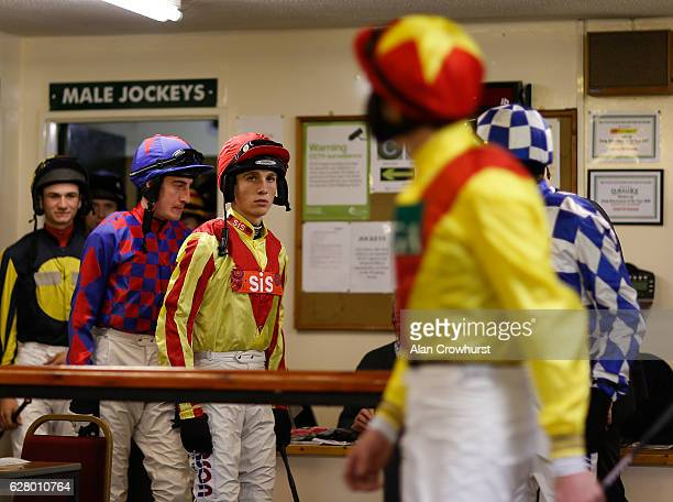 Harry Cobden leave the weighing room at Fontwell Park on December 6 2016 in Fontwell England