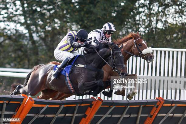 Harry Cobden riding Challico clear the last to win The Bet Toteexacta At betfredcom Interactive at Taunton racecourse on November 1 2017 in Taunton...