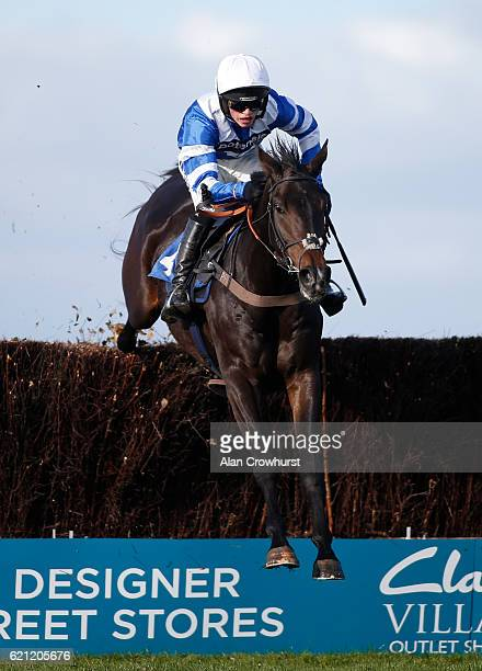 Harry Cobden riding Frodon clear the last to win The Wincanton Rising Stars Novices' Steeple Chase at Wincanton Racecourse on November 5 2016 in...