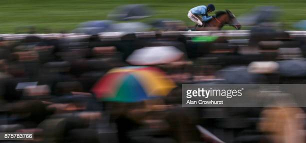 Harry Cobden riding Posh Trish win The Experience The Theatre At The Festival Mares' Standard Open National Hunt Flat Race at Cheltenham racecourse...