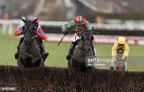 Harry Cobden riding Royal Salute clear the last to win The jasonhallracingcom âSharing Success❠Handicap Steeple Chase fromHenllan Harri at Plumpton...