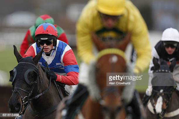 Harry Cobden riding Royal Salute on their way to winning Thejasonhallracingcom âSharing Success❠Handicap Steeple Chase at Plumpton Racecourse on...