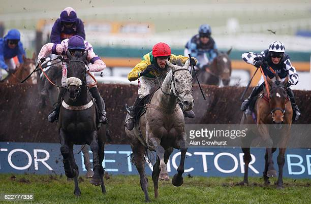 Harry Cobden riding Viconte Du Noyer clear the last to win The BetVictor Handicap Steeple Chase at Cheltenham Racecourse on November 12 2016 in...