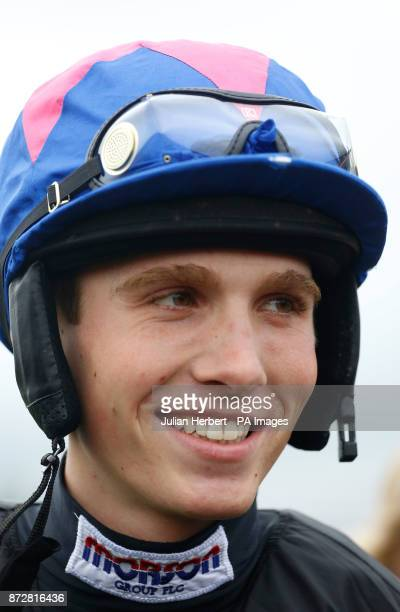 Harry Cobden waits to ride Cue Card in a racecourse gallop during Badger Chase Day at Wincanton Racecourse PRESS ASSOCIATION Photo Picture date...
