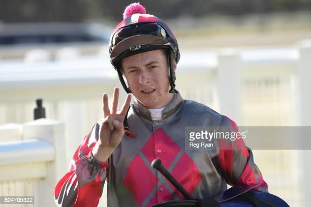 Harry Coffey wins the Mildura Truck Centre â Isuzu BM64 Handicap at Mildura Racecourse on July 31 2017 in Mildura Australia
