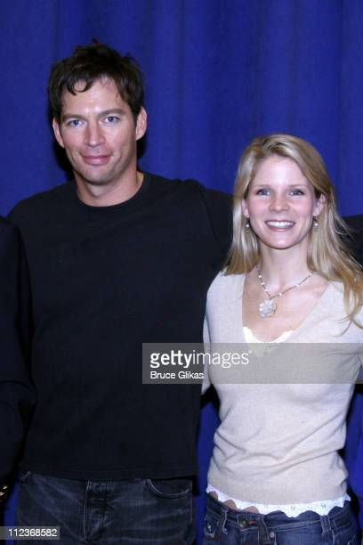 Harry Connick Jr and Kelli O'Hara during Harry Connick Jr In 'The Pajama Game' First Day of Rehearsals Meet and Greet at The New 42nd Street...