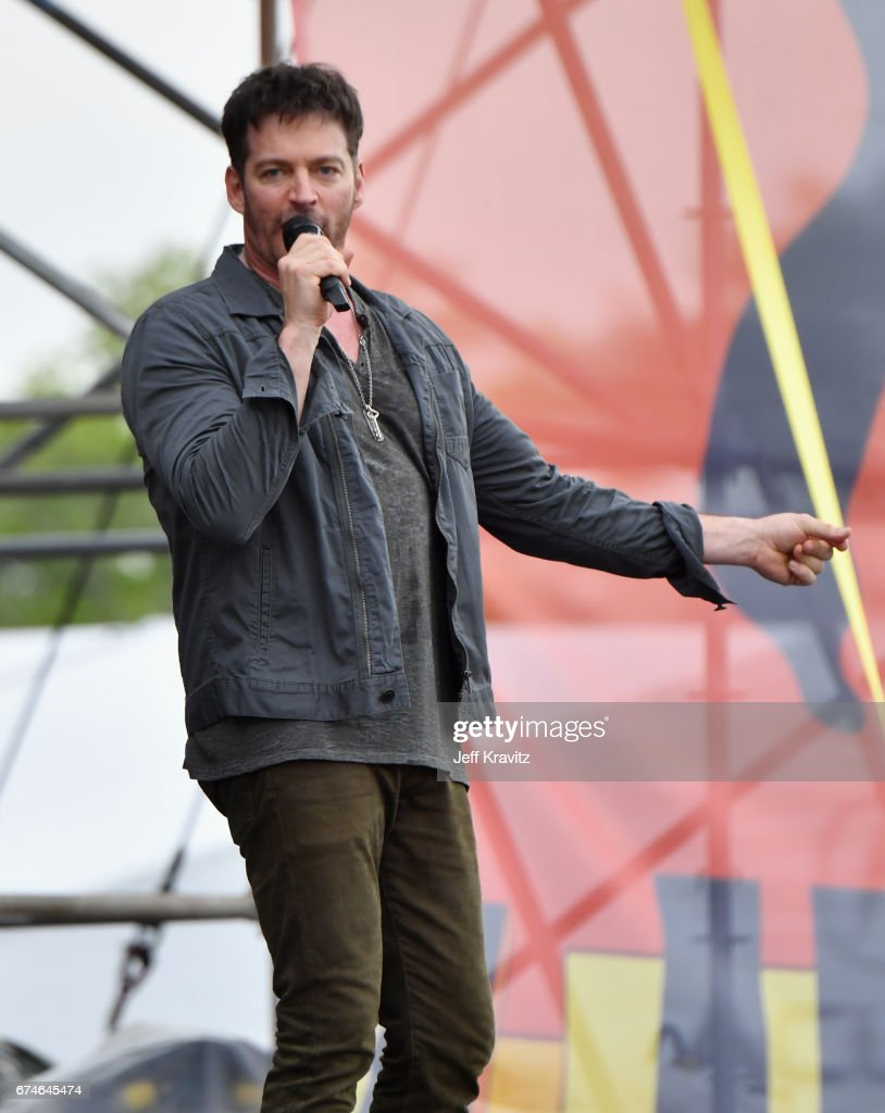 Harry Connick Jr. performs onstage during day 1 of the 2017 New Orleans Jazz & Heritage Festival at Fair Grounds Race Course on April 28, 2017 in New Orleans, Louisiana.