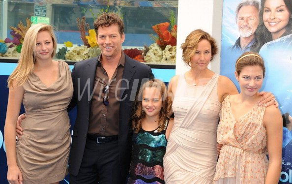 Harry connick jr wife jill goodacre and family attend the for Jill goodacre wedding dress