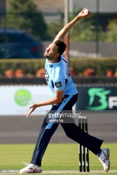 Harry Conway of Cricket NSW bowls during the Cricket NSW Intra Squad Match at Hurstville Oval on September 2 2017 in Sydney Australia