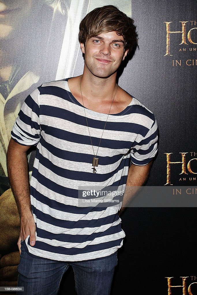 Harry Cook attends the Sydney premiere of 'The Hobbit: An Unexpected Journey' at George Street V-Max Cinemas on December 18, 2012 in Sydney, Australia.