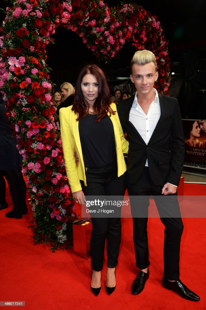 <a gi-track='captionPersonalityLinkClicked' href=/galleries/search?phrase=Harry+Derbidge&family=editorial&specificpeople=7355847 ng-click='$event.stopPropagation()'>Harry Derbidge</a> and <a gi-track='captionPersonalityLinkClicked' href=/galleries/search?phrase=Amy+Childs&family=editorial&specificpeople=7306054 ng-click='$event.stopPropagation()'>Amy Childs</a> attend the UK premiere of 'A New York Winter's Tale' at The Odeon Kensington on February 13, 2014 in London, England.