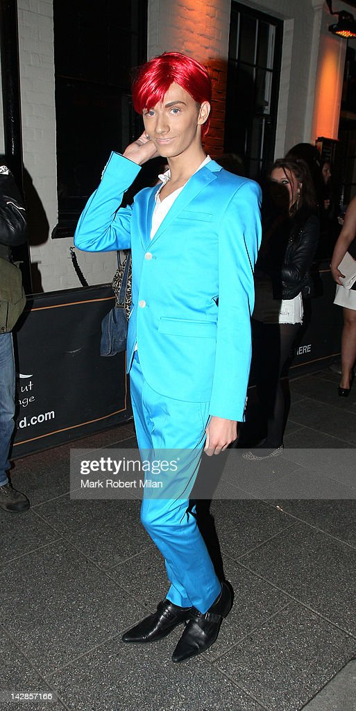 Harry Derbidge attends his 18th birthday party at Sugar Hut on April 13, 2012 in London, England.