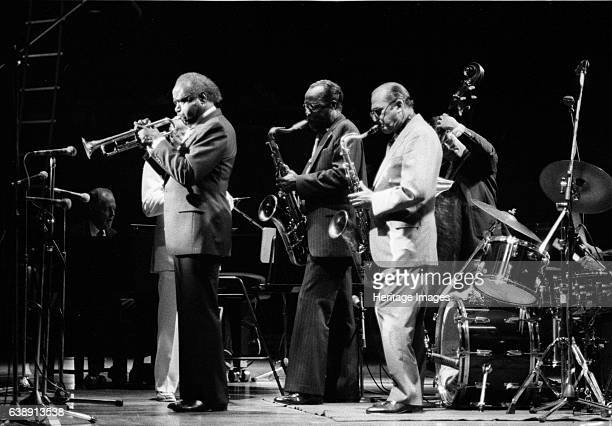 Harry Edison 'Sweets' Buddy Tate Al Cohn Capital Jazz Festival London June 1985 Performing at the Royal Festival Hall Artist Brian O'Connor