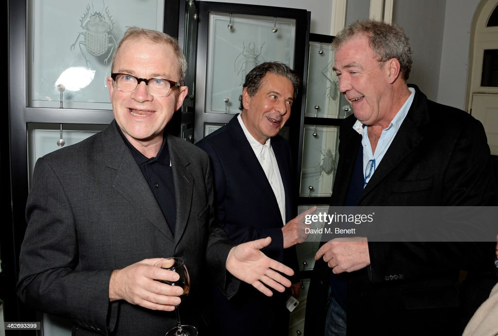<a gi-track='captionPersonalityLinkClicked' href=/galleries/search?phrase=Harry+Enfield&family=editorial&specificpeople=206893 ng-click='$event.stopPropagation()'>Harry Enfield</a>, <a gi-track='captionPersonalityLinkClicked' href=/galleries/search?phrase=Charles+Saatchi&family=editorial&specificpeople=2526461 ng-click='$event.stopPropagation()'>Charles Saatchi</a> and <a gi-track='captionPersonalityLinkClicked' href=/galleries/search?phrase=Jeremy+Clarkson&family=editorial&specificpeople=217586 ng-click='$event.stopPropagation()'>Jeremy Clarkson</a> attend Christa and Bella's School Project fundraiser hosted by Christa D'Souza and Bella Pollen in aid of Marefat High School in Kabul on January 14, 2014 in London, England.