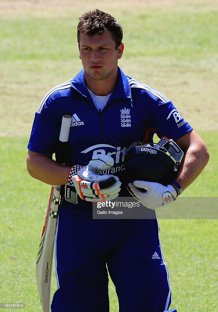 Harry Finch of England walks off after being dismissed during the 2nd U/19 Youth One Day International match between South Africa and England at Bellville Cricket Club on February 15, 2013 in Cape Town, South Africa.