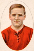 Harry Fleming of Swindon Town featured on a vintage cigarette card from a series entitled 'Football Club Records' published in 1922